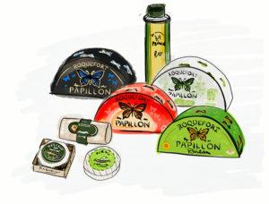 produits roquefort papillon